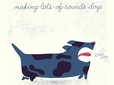 Making-Lots-of-Sounds Dogs kids art render texture dogs illustration design flat design illustration art illustration
