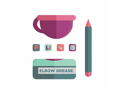 Artist Starter Pack: break outs vector icondesign flat design abstract flatdesign color lineart texture illustration