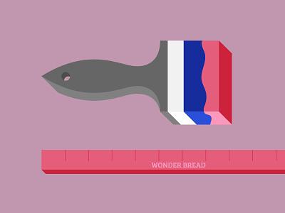 Wonder(bread)in about Balance flat design vector texture illustration