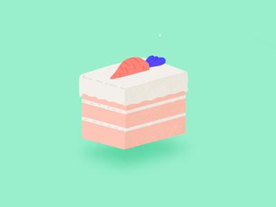 Carrot Cake color flat design design vector isometric flatdesign texture illustration