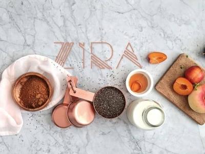 Zira Cooks food cooking typogaphy logo