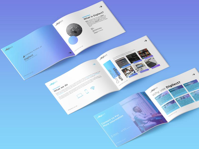 Company Profile presentation coporate print branding brand design company profile design