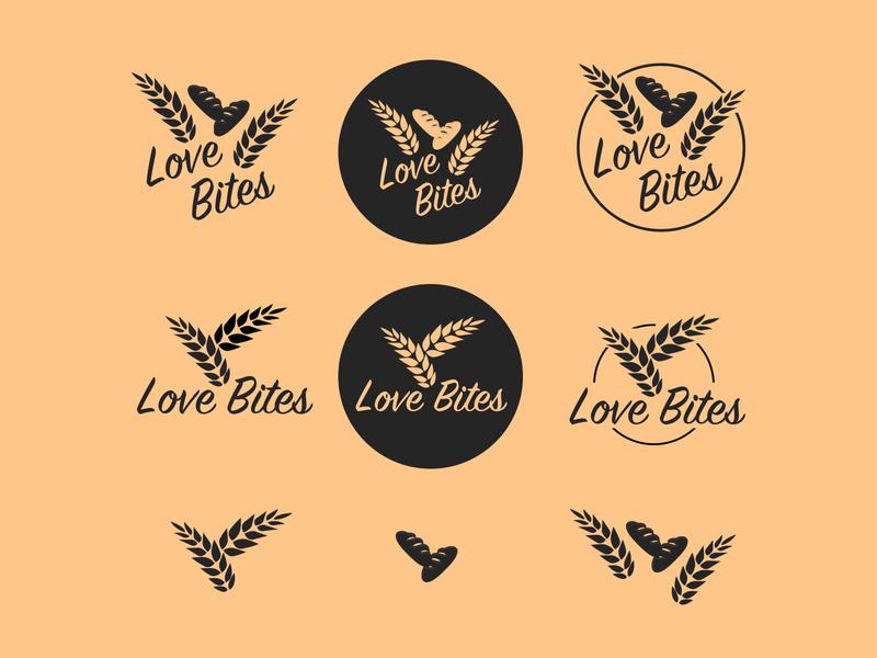 Love Bites Bakery Logo branding brand design logotype ci logo design logo