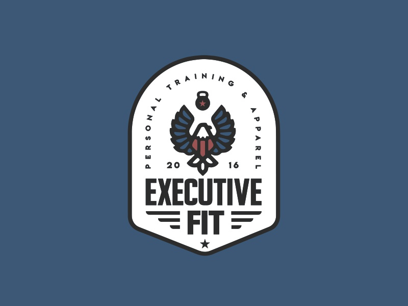 Executive Fit Badge tshirt gym fitness eagle badge