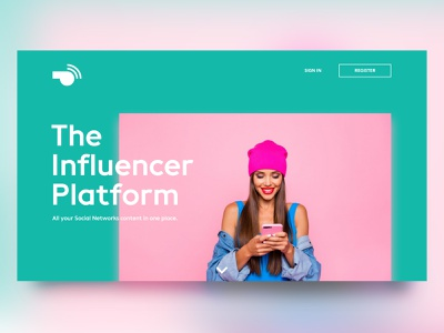 Whistl Feed // Website Homepage logodesign uiux ui platform influencer young modern colorful color homepage website logo feed whistler whistle