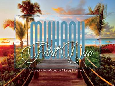 Muhaqu Font Duo - Display & Script Fonts