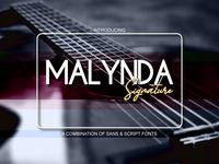 Malynda Signature Font Duo