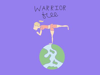 Warrior Free warrior free warrior three travel yoga world fun funbits web female illustration design