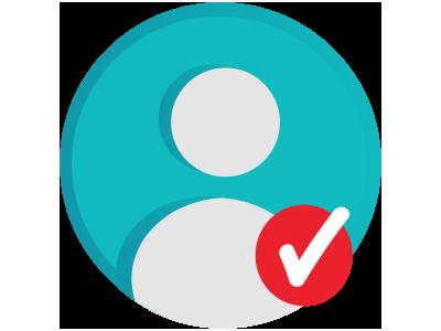 Profile Complete Badge web user checkmark gamification badge profile complete