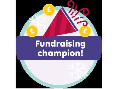Fundraising Champion megaphone coins gbp celebrate gamification badge fundraising champion fundraising