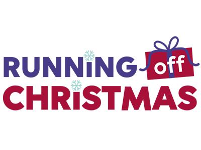 Roc Logo web fitness christmas illustrator fundraising virtual event logo running off christmas