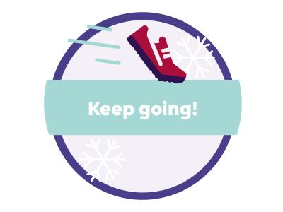 Roc Badge 1 shoe illustration badge fundraising keep going gamification fitness badge