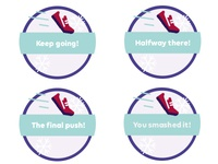 Distance Gamification Badges