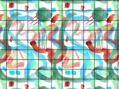 Splashy Abstract art textile print abstract art organic art painting watercolour surface pattern pattern design illustration