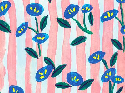 Mar paintings floral gouache painting flowers art illustration