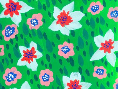 Picnic floral design painting gouache illustration cute illustration art flowers print pattern design lifestyle art garden illustrated cottagecore