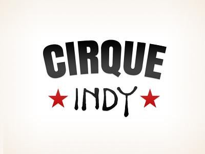 Cirque Indy indianapolis stripes stars circus indy cirque logo