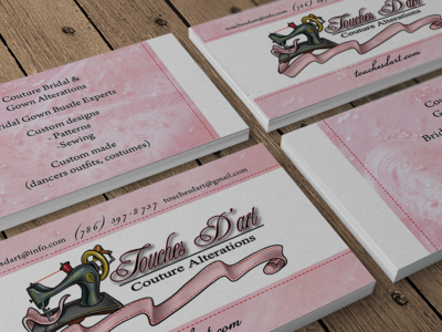 Client Business Card Photoeralistic Mock Up