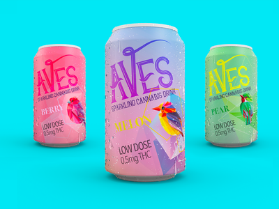 Aves Sparkling Cannabis Drink cannabis packaging cannabis design cannabis logo cannabis branding packaging branding can design