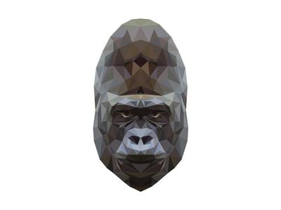 Gorilla animal triangle color design adobe illustrator illustration gorilla geometric