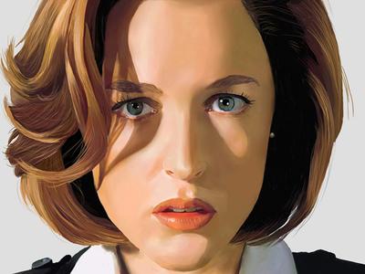 Scully Digital Painting painting digital painting corel painter painter corel fan art x files x-files scully
