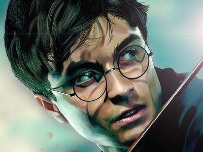 Harry Potter Digital Art film fantasy hair magic corel fan art fanart illustration painting digital painting wacom harrypotter