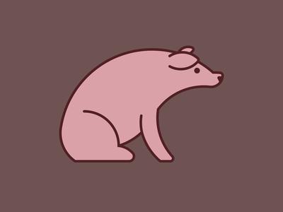 Pig Icon farm illustration illustrator icon animal pig