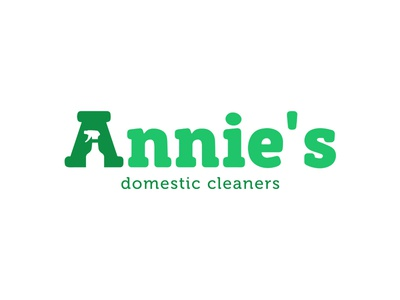 Annies Domestic Cleaning logo business design illustrator icon cleaning branding logo design logo