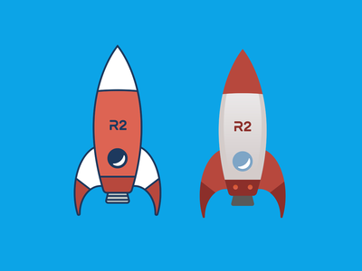 Rocket Concept Illustrations space rocket branding adobe illustrator design flat illustration