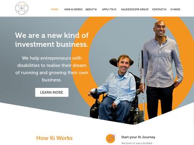 Web Re-Design for new VC Company ui theme design theme for wordpress theme web web design