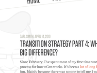 Transition Strategy Part 4