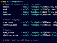 Modeling sports data