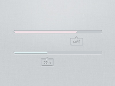 Marshmallow Loader Bar jquery html5 grey blue red pink loader loading progress bar percent webdesign design bubble preload preloader