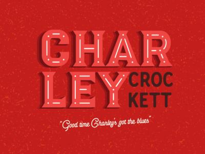 Charley Crockett design typography