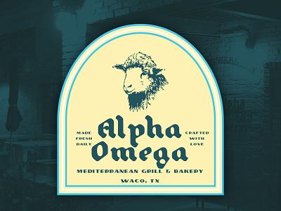 Alpha Omega branding logo illustration typography design