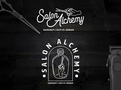 Salon Alchemy branding logo illustraion