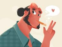 HELLBOY hellboy design paper sketchbook draw creative artist graphic art illustration design artists illustration