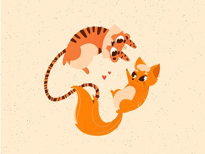 TIGER&FOXY illustration logo fox tiger design graphics art illustration design artists