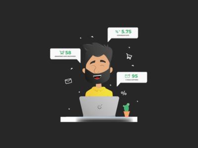 Checkoutify's Communication Charecter Design