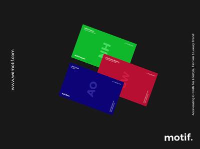 New Business Card Design Concept - Motif Agency
