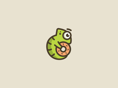 Doughnut Chameleon Logo