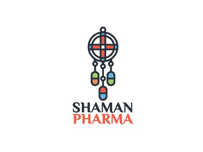 Shaman Pharma Dream Catcher Logo