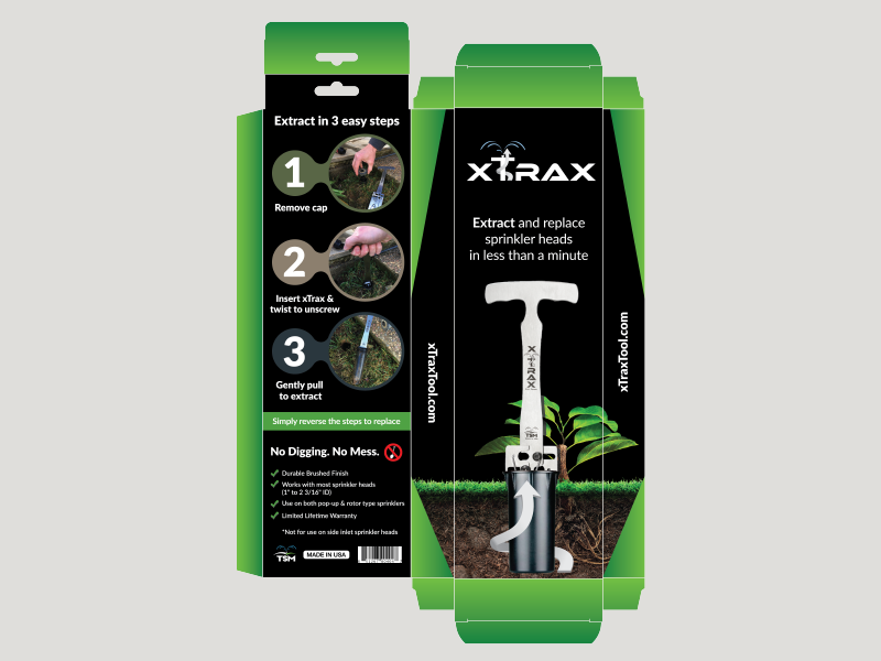 Xtrax Packaging and Logo extraction extract packaging garden gardening water sprinkler xtrax