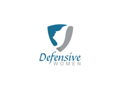 Defensive Women strong protection security shield head face girl woman women logo firearms training