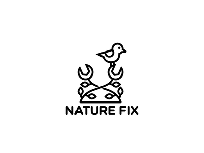 Logo Design - Nature Fix logo design design logos logo construction repairs repair wrench tools tool natural fix nature