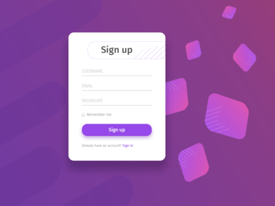 Sign Up Dailyui