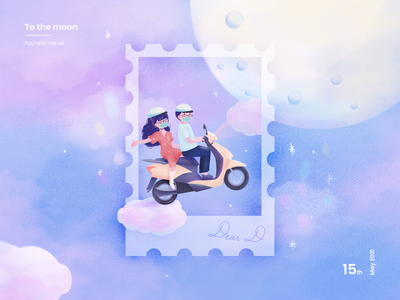 To the Moon graphic illustration moonshine moons moonlight ride moon