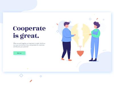Cooperate Hero Banner