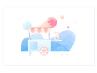 Loving Ice Cream Illustration