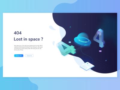 404 Error - Lost in space screen